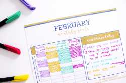 february goals + irises + monthly printable! - the craftables