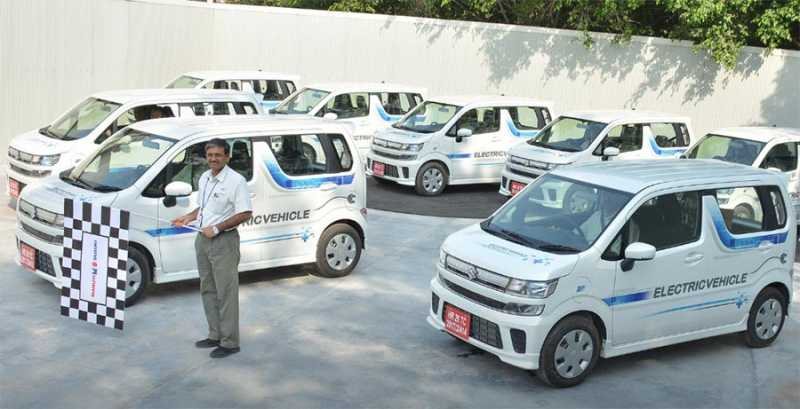 First Maruti Electric Car Flagged Off For Testing
