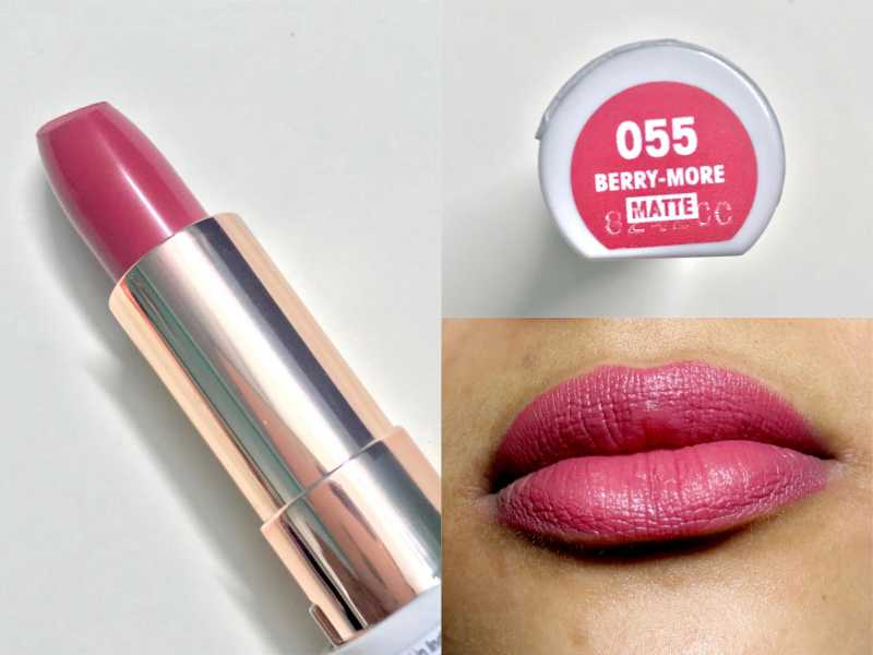 Flower Beauty Berry More Petal Pout Lip Color Review, Swatches