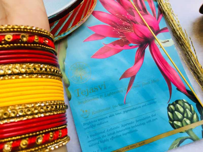 Forest Essentials Tejasvi Brightening & Lightening Ayurvedic Sheet Mask Review