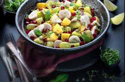 Fruit Chaat - An Indian Style Spiced Fruit Salad Recipe