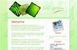 GO green- Website theme created by me for The Weebly theme design contest!