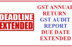 gst annual return due date extended to 31.03.2019