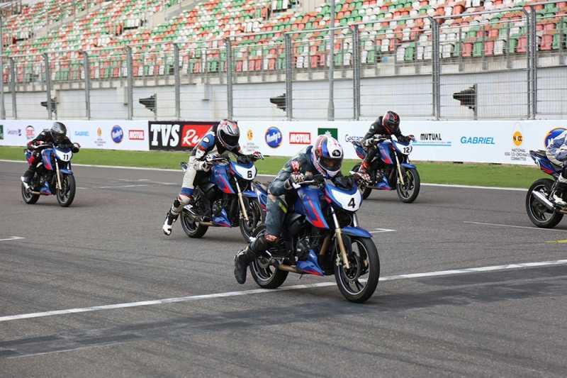 GaadiKey's Nikhil Finishes 3rd In TVS Young Media Race At BIC