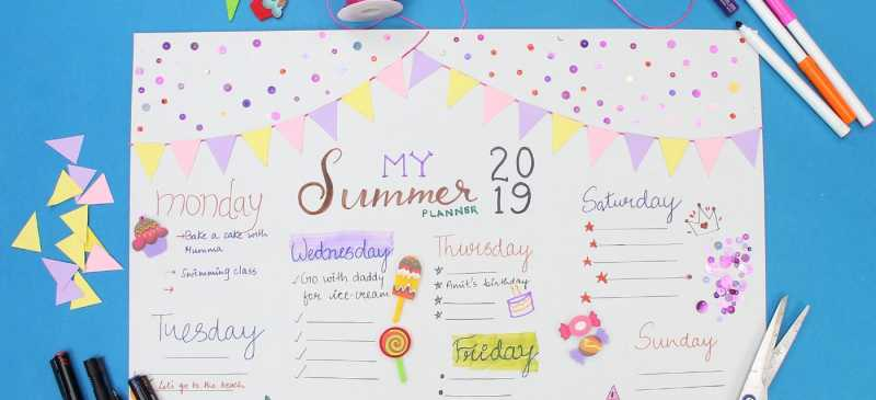 Get Creative These Holidays With This DIY Summer Planner!