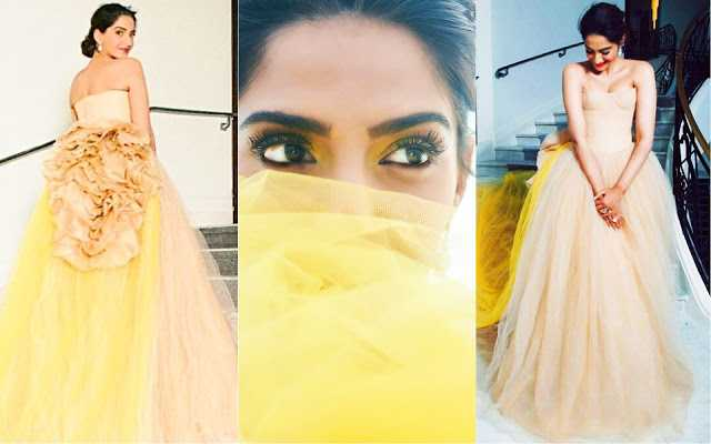 Get The Look: Sonam Kapoor Cannes 2018 Color Pallet Inspired Makeup