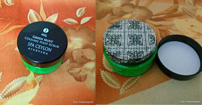 Green Mint Cooling Foot Scrub - Spa Ceylon Ayurveda Review