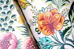 Hand painted fabric lampshade - When art meets craft