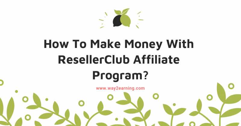 How To Make Money With ResellerClub Affiliate Program?