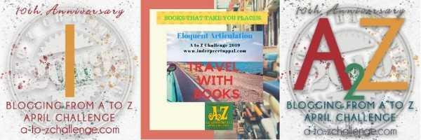 I Is India #TravelWithBooks #AtoZchallenge @AprilA2Z
