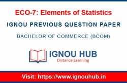 ignou eco 7 question paper - ignou hub