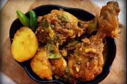 Kancha Lanka Murgi/ Green Chili Chicken/ Murgh Hari Mirch Recipe with Step by Step Pictures