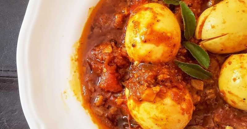 Kerala Style Egg Roast   Kerala Egg Curry