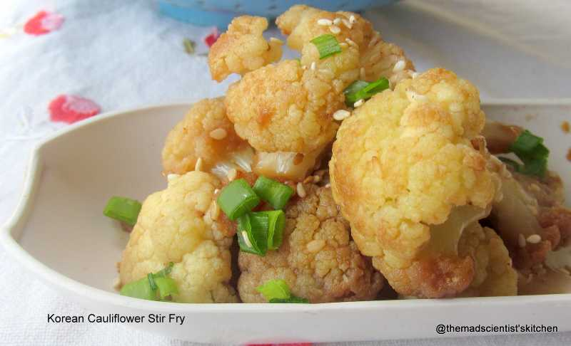 Korean Cauliflower Stir Fry