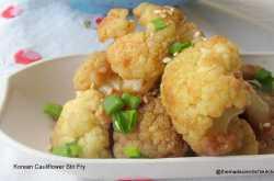 Korean Cauliflower Stir Fry