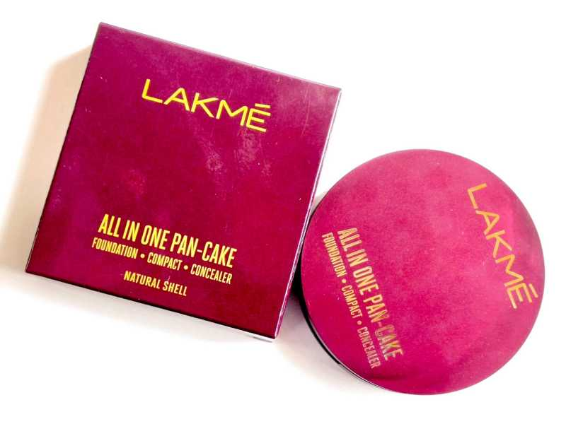 Lakme All In One Pan-Cake Review, Swatches