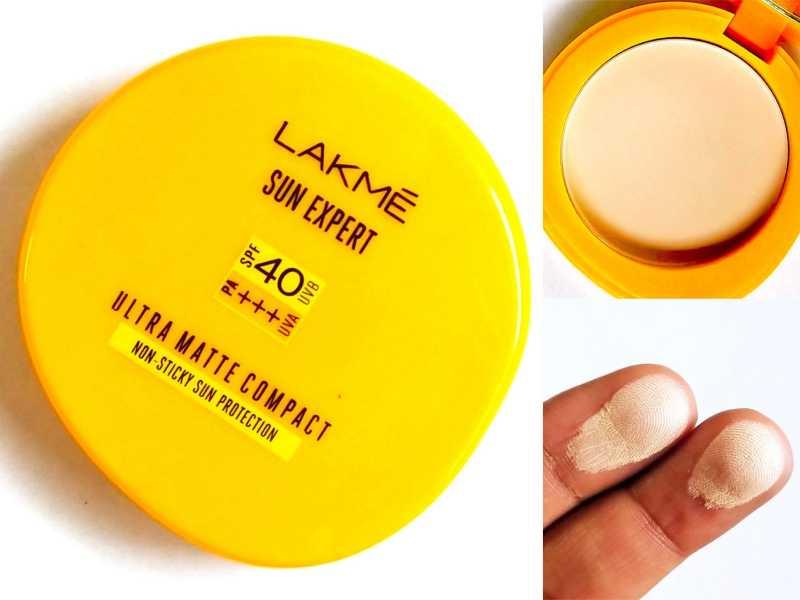 Lakme Sun Expert Ultra Matte SPF 40 Compact Review, Swatches