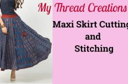 Maxi Skirts Cutting And Stitching