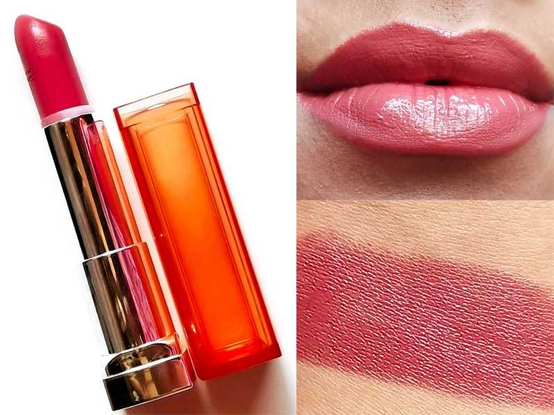 Maybelline Color Sensational Satin Lipstick Thriller Nude 888 Review, Swatches