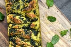 Mint and garlic pull apart bread recipe