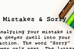 Mistakes and Sorry