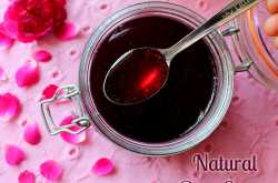 natural rose syrup for kids - a refreshing summer drink