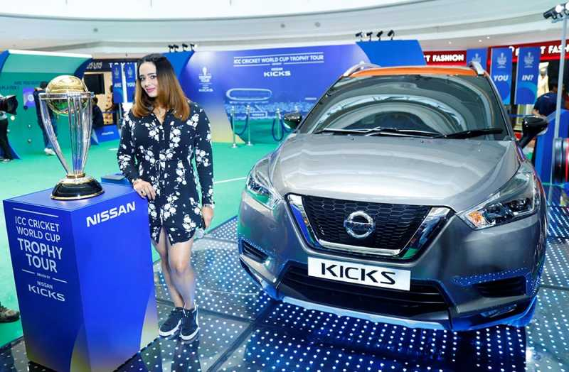 Nissan KICKS Brings ICC World Cup Trophy To Bangalore