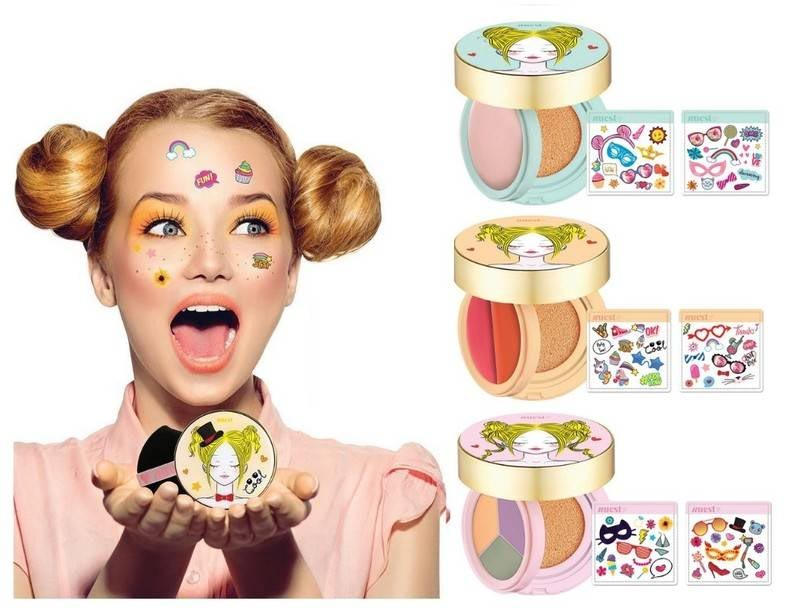 Nuest Cosmetics Launches Layered Cushion Compacts With Emoji Stickers - Handmade Reviews
