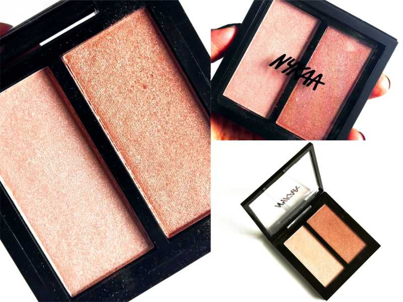 Nykaa Moonshine 03 Glow Getter Highlighting & Illuminating Duo Review, Swatches