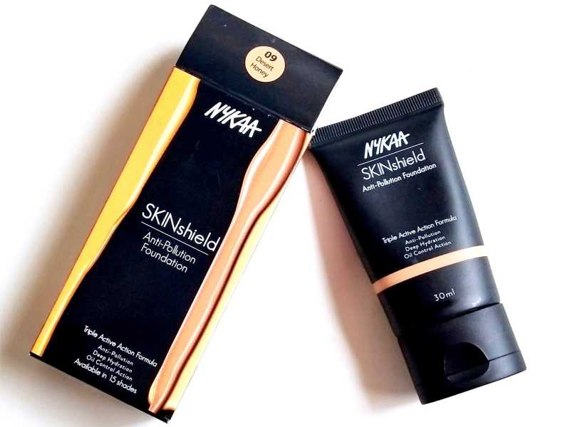 Nykaa SkinShield Anti-Pollution Matte Foundation Review, Swatches - Desert Honey 09 - Makeup And Beauty Forever