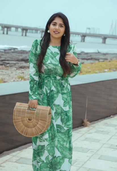 OOTD: Green Leaf Print Summer Dress