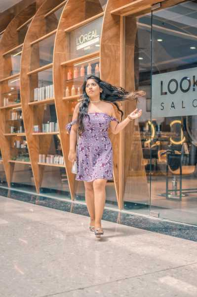 OOTD: Lavender Floral Off Shoulder Dress | New Love - Makeup OOTD: Lavender Floral Off Shoulder Dress