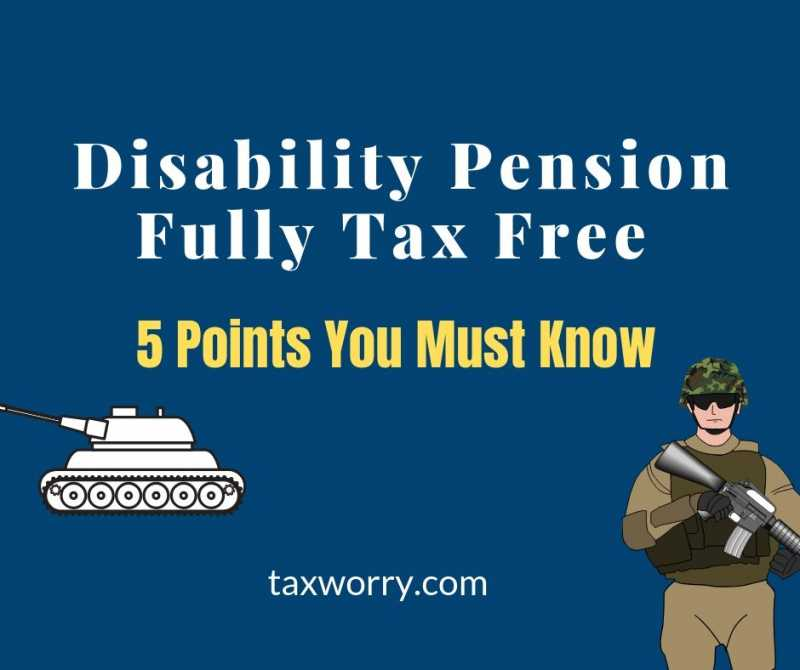Pension To Disable Armed Force Personnel Fully Tax-Free! - Taxworry.com