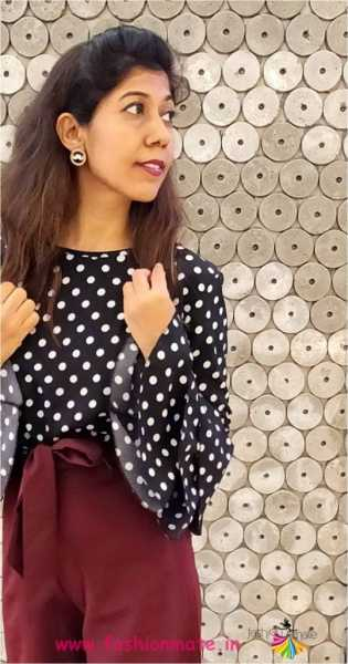 Polka And Palazzo - Casual Office Wear Look!