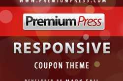 premium press responsive coupon theme 70% discount coupon
