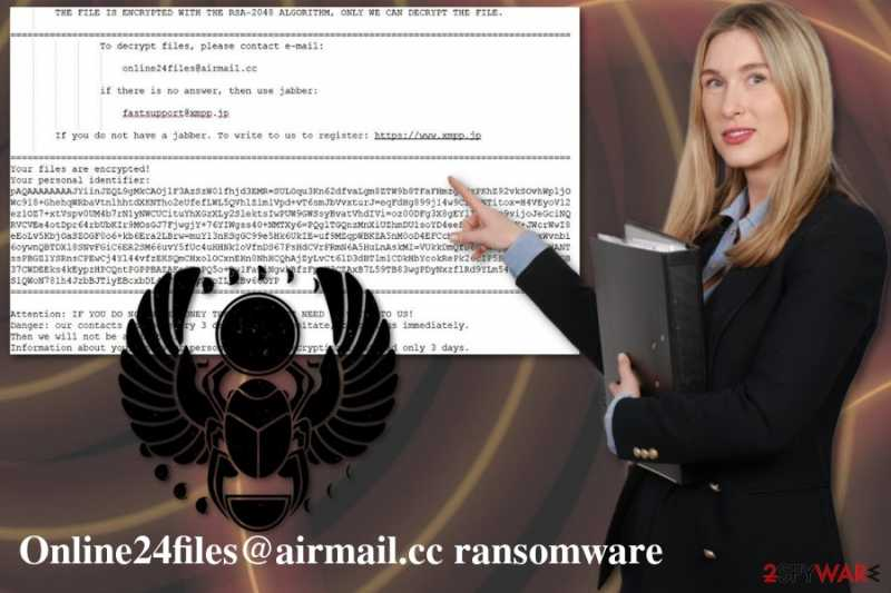 Remove Online24files@airmail.cc Ransomware (Free Instructions) - Decryption Methods Included