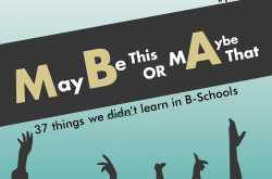 review of 'maybe this or maybe that: 37 things we didn't learn in b-schools' by abhaidev.