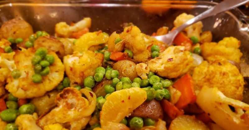 Roasted Cauliflower Orange -- Phulkopi Komola Roast