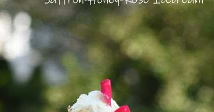 Saffron Rose And Honey Ice Cream -- No Ice Cream Maker Needed