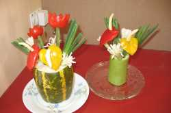 salad decoration :: easy and interesting ideas