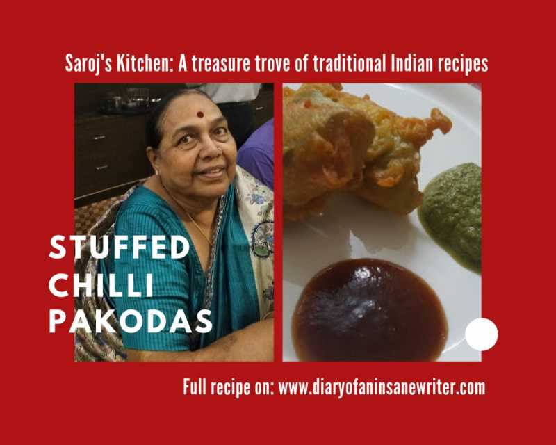 Saroj's Kitchen: #1 Stuffed Chilly Pakodas| Yummy And Easy Indian Snack In 6 Steps