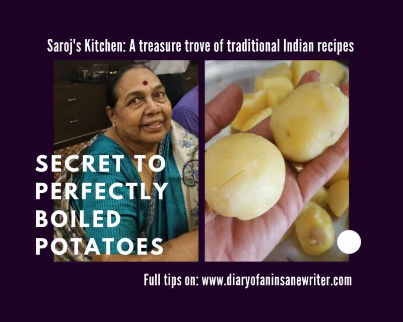 Saroj's Kitchen: #2 Secret To Perfectly Boiled Potatoes | Cooking Tips