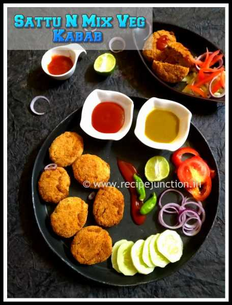Sattu N Mix Vegetable Kabab Made In Air-Fryer