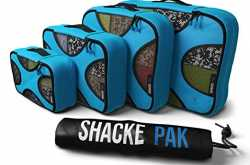 shacke pak - 4 set packing cubes travel organizers - active life living