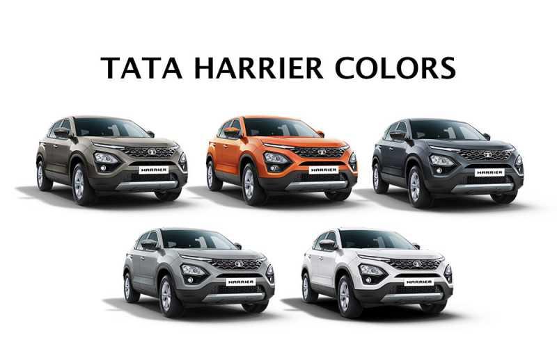 Tata Harrier Colors: White, Silver, Orange, Grey, Gold
