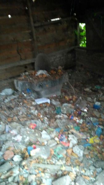 Temple Converted Into Dustbin!