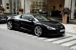 The Audi R8 & Lexus LS460