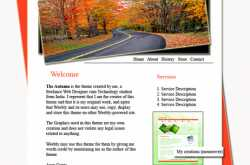 The Autumn- Website theme created by me for The Weebly theme design contest!