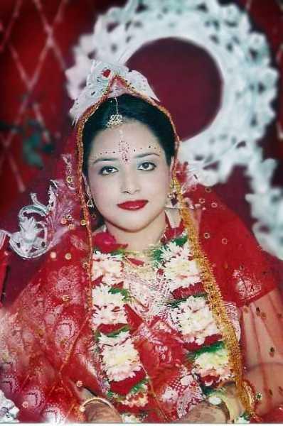 The Blushing Bride: Pamela Sumit Sarkar
