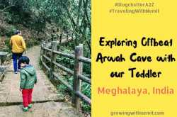 the caves in meghalaya - exploring offbeat arwah cave with our toddler